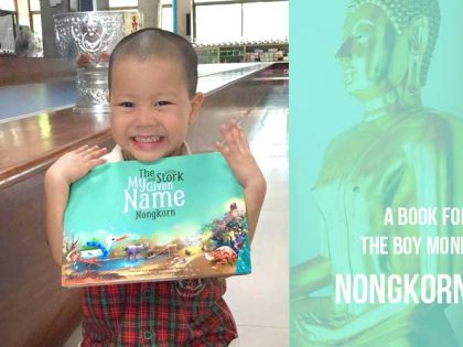 The Boy Monk Nongkorn & Little Bindee the Stork